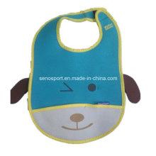 Lovely Design Washable Neoprene Infant Bib with Pocket (SNBB06)