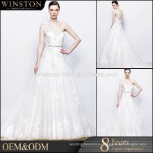 Алибаба Фабрика Гуанчжоу платья слоистых органза свадебные платья