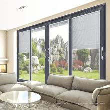 Fenêtres de portes rideaux en aluminium de conception professionnelle
