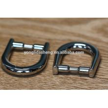 Fashionable Zinc alloy Metal D ring shape for handbag fittings