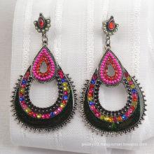 Ancient Bronze Indian Style Diamond Earring (XJW1652)