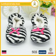 Горячие продажи высокого качества прекрасные женщины зебры теплые крытые тапочки обувь для зимы