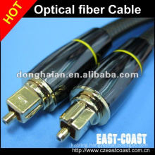 High end Metal shell Toslink male to male optical fiber cable