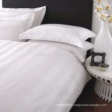 Polyester Cotton 1CM/2CM/3CM Sateen Striped White Bedding Fabric Wholesale