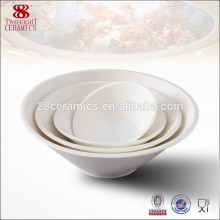 China dinnerware plain ceramic bowls wholesale salad bowl to go