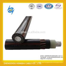 600 / 1000V einadriger Aluminiumleiter XLPE isoliertes konzentrisches Nullleiterkabel