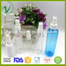 2016 garrafa de perfume de plástico PET vazio e transparente para embalagem de cosméticos