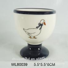 Copas de cerámica para huevos de cocina con calcomanía completa