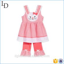 Set de ropa para niños de verano Top sin mangas de niños con shorts Ropa de algodón para niños