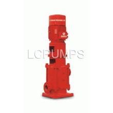 Вертикальный многоступенчатый пожарный насос стационарного типа
