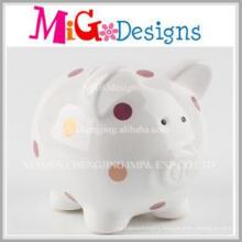 OEM Service Lovely Pig Shaped Ceramic Piggy Bank