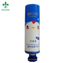 pe tube / cosmétique tube ligne plastique récipient cosmétiques crème à la main en plastique tube emballage