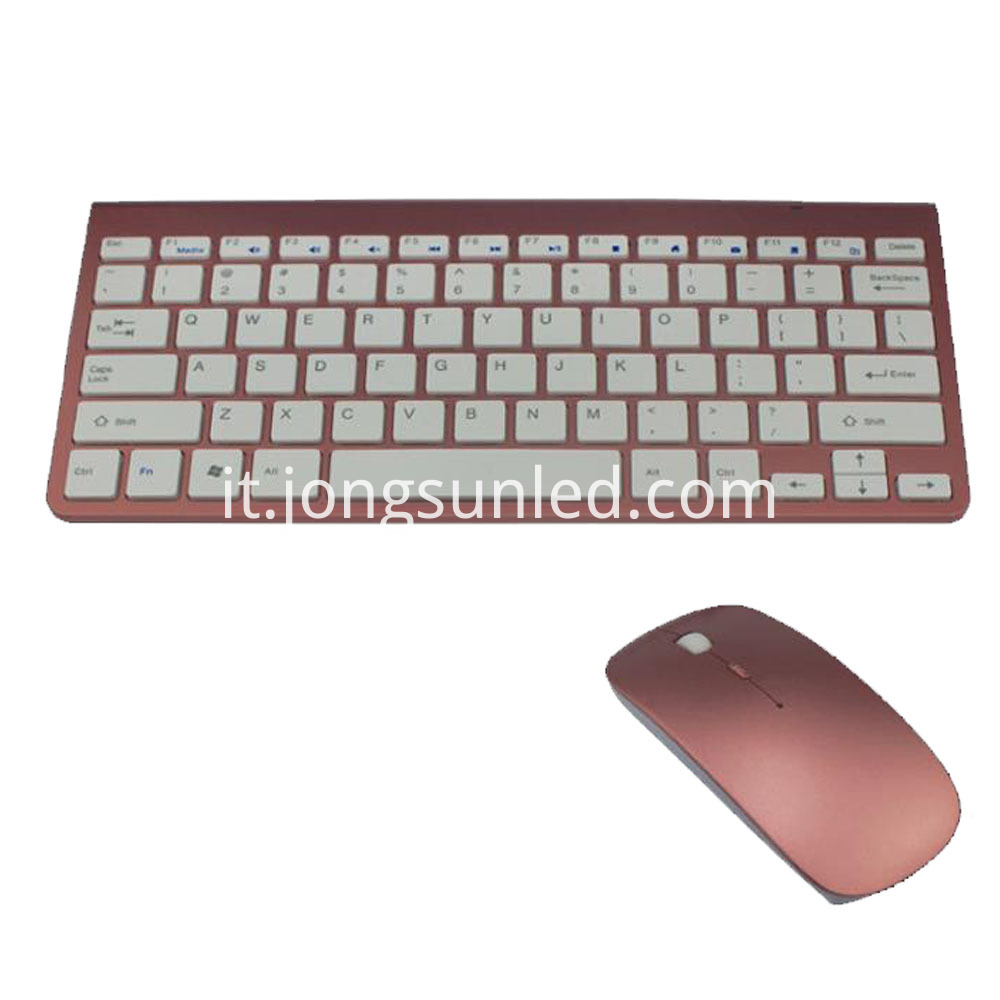 Rose Gold Mouse Keyboard 2