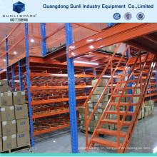 Rack de decks de metal resistente com suporte de mezanino