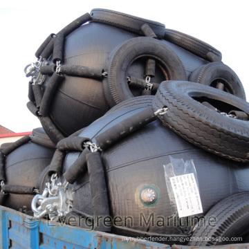 D=3500mm EL=7000mm Yokohama Floating Pneumatic Fenders/ Sling Type and Tire Net