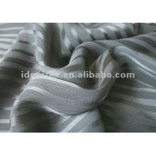 Polyester Stripe Crepe chiffon for Lady Dress