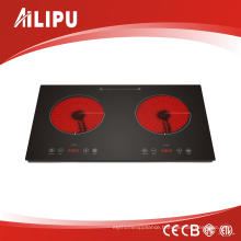 New Desing Double Infrared Ceramic Cooker with Touch Control