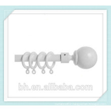 New 35mm White Plastic Curtain Pole Rod Rings Curtains Loops Gliders