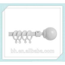 Novo 35 milímetros de plástico branco cortina pólo Rod Anéis Cortinas Loops Gliders