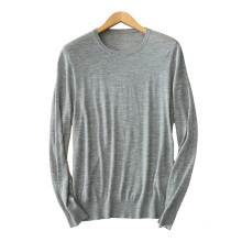 Men's cashmere sweater O neck long sleeves 12GG cable knitting pullover sweater solid color casual sweaters