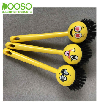 Cute Printing Expression Dish Clean Brush DS-283