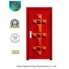 Sicherheitstür mit roter Farbe für Außen (b-3020)