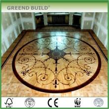 Wohnzimmer Kunst Medaillon Bodenmuster