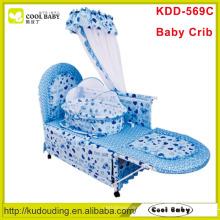 2015 Fabricante NEW Baby Crib com berço interno e mosquiteiro
