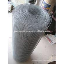 Treillis métallique soudé galvanisé, treillis métallique soudé à faible teneur en carbone