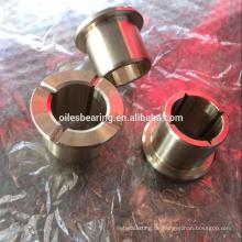C86300 C95400 JDB-1U gegossen Bronze-Varianten Lager, Aluminiumlegierung Flansch mit Nippel Buchse