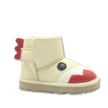 White Kids Boys Animal Boots Wool Lined