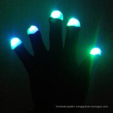 New Year Party Custom Led Nylon Light Up Gloves