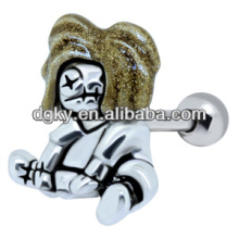 Jóia animal do parafuso prisioneiro da orelha do zombi do ouro do brinco da venda quente