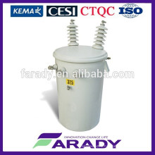 2015 hot selling 11kv 10kva single phase electrical transformer conventional type D11 series