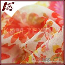 Amostra grátis impresso tecido Georgette de seda