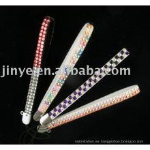 Cordón de mano de cordón de la moda Rhinestone Bling