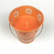 Scented Metal Bucket Garden Paraffin Wax Citronella Candle