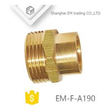 EM-F-A190 Conector de latón macho de conexión rápida para tuberías de pvc