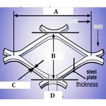 Malla de alambre expandida de metal / expandida / hoja de metal expandida