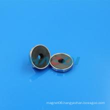 permanet ferrite round pot magnet base