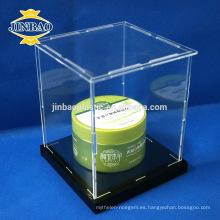 Tamaño de encargo de la caja de acrílico del plexiglás de la exhibición de Jinbao 10x10cm 3m m