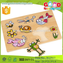 new design insect puzzle early learning wooden educational puzzle toys