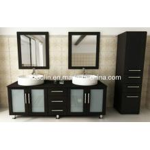 Meuble-lavabo en bois double évier (BA-1119)