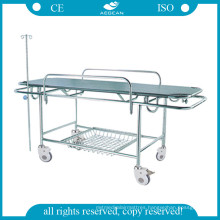AG-HS015 Cheap Stretcher Stainless Steel Frame Hospital Stretcher Prices