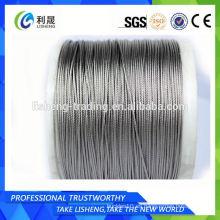 Cuerda de alambre de acero inoxidable 1x19 para la industria