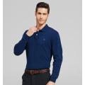 2016 Moda 100% algodão manga comprida pólo dos homens