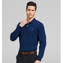 2016 Fashion 100%Cotton Long Sleeve Men′s Polo Shirt