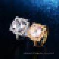 3.20CT Rond Cut Naturel Rose Quartz Rock Cristal Quartz Anneaux 925 Sterling Argent pour Femmes Engagement Fine Jewelry