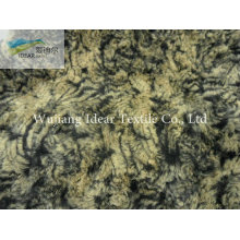PV Plush Printed Twisted Flower Knitted Fabric/Luxury Velvet Fabric