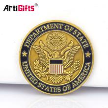 Moneda de águila de color plata de oro viejo de Estados Unidos estadounidense personalizada sin mínimo
